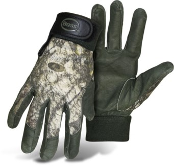 Mossy Oak Pigskin Palm Gloves - Large
