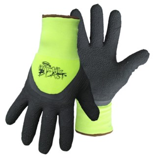 HI-VIS Green Textured Latex Palm Gloves - Large