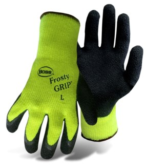HI-VIS Insulated Knit Latex Palm Gloves - Large