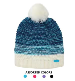Ladies Beanie - Knit Pom