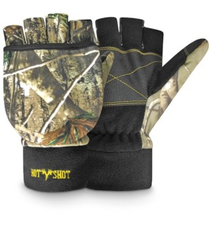 Large Camo Pop Top Gloves
