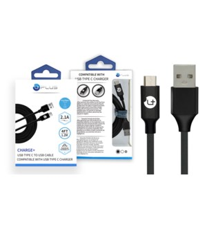 4' Type C USB Cable