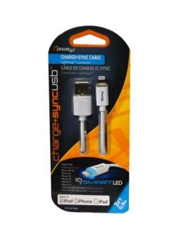 3 ft. LED USB 8 Pin - White