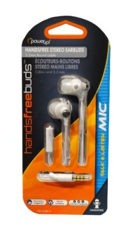 Stereo Earbuds (White)
