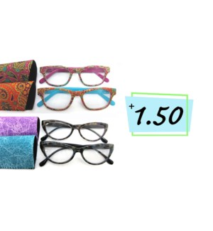 +1.5 Reading Glasses & Matching Case