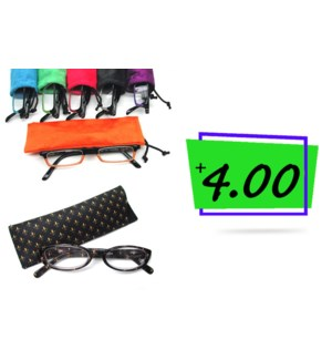 +4.00 Reading Glasses & Matching Case