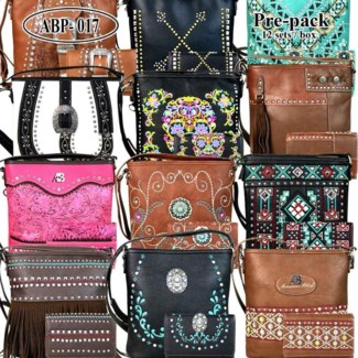 Pre-Pack Purses with Matching Wallets - ABM-017