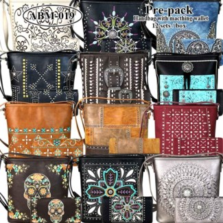 Pre-Pack Purses with Matching Wallets - ABM-019