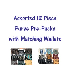 Pre-Pack Purses With Matching Wallets