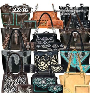 Pre-Pack Purses & Wallets - ABS-008W