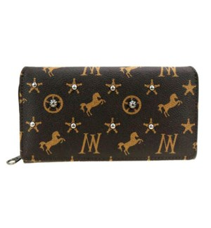 Western Monogram Studded Wallet