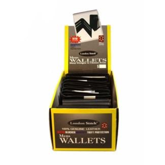 Men's Leather Wallet W/ RFID Blocker