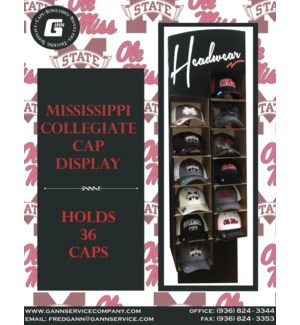 Mississippi Collegiate Cap Display