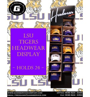 LSU Cap Display