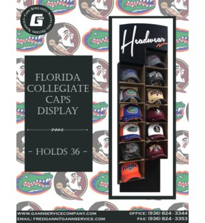 Florida Collegiate Caps Display