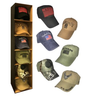 Military Branch Cap Display