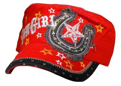 Cowgirl/Horseshoe Cadet Cap