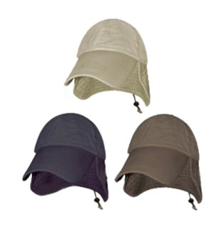 Microfiber Cap with Neck Flap