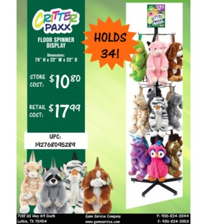 Critter Backpacks Display