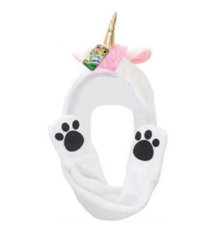 White Unicorn Mitt Hat