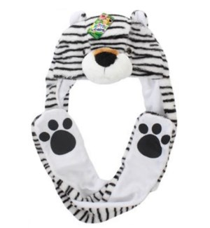 White Tiger Mitt Hat