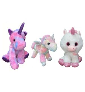 "11"" - 14"" Plush Unicorns"