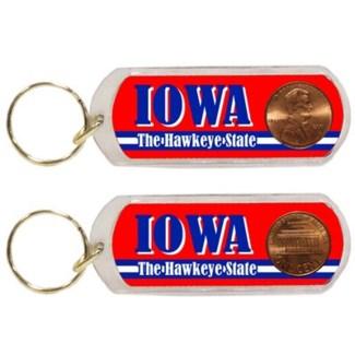 Iowa Lucky Penny Keychain
