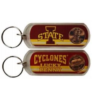 Iowa State Lucky Penny Keychain