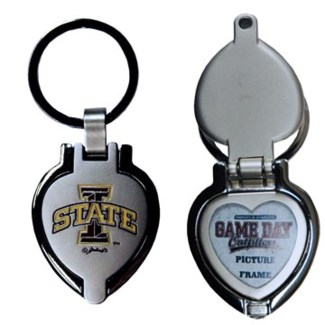 Iowa State Heart Locket Keychain