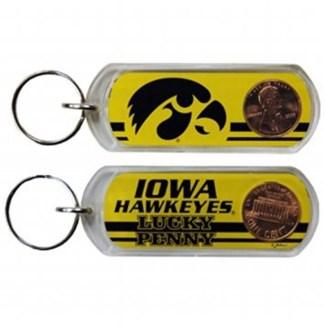 Iowa Hawkeyes Lucky Penny Keychain