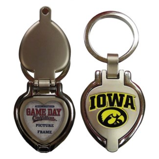 Iowa Hawkeyes Heart Locket Keychain