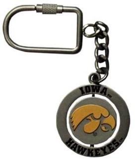 Iowa Hawkeyes Nickel Spinner Keychain