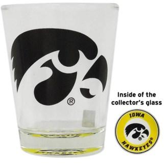 Iowa Hawkeyes Bullseye Shotglass