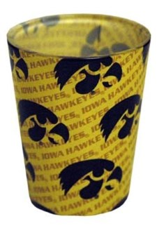 Iowa Hawkeyes Shadow Shotglass