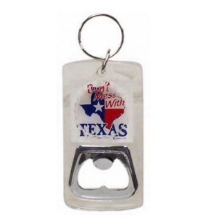 Texas Lucite Bottle Opener Keychain