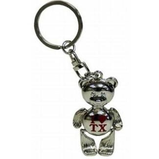Texas Teddy Bear Keychain