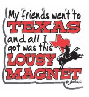 Lousy Texas Magnet