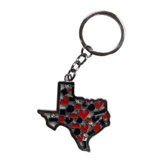 Texas Mosaic Keychain