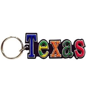 Texas PVC Festive Keychain