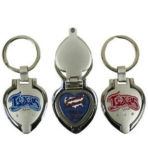 Texas Locket Keychain