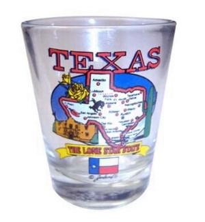 Texas State Map Shotglass
