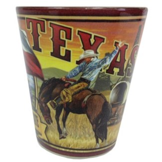 Texas Mural Shotglass