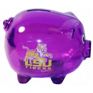 LSU Purple Piggy Bank