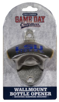 LSU Bottle Opener Wall Mount