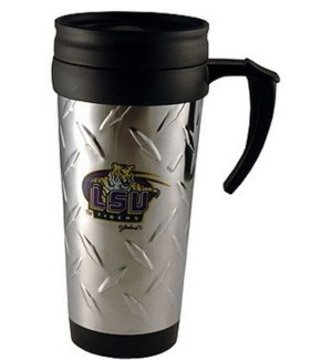 LSU Stainless Steel, Diamond Plated Mug
