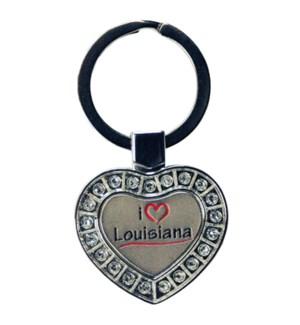 LA Metal Heart Keychain