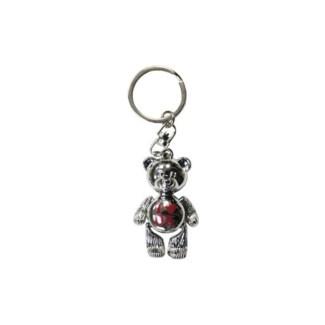 Oklahoma Teddy Bear Keychain