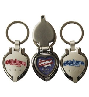 Oklahoma Locket Keychain
