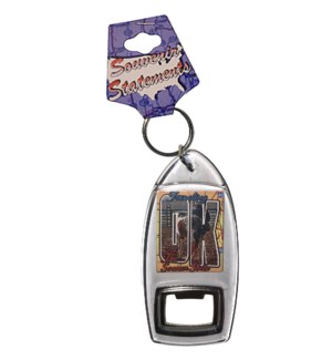 Oklahoma Bottle Opener Keychain