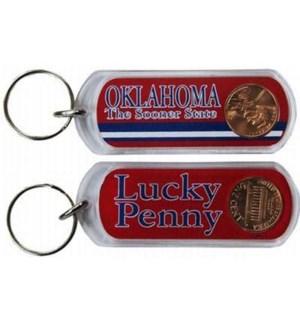 Oklahoma Lucky Penny Keychain